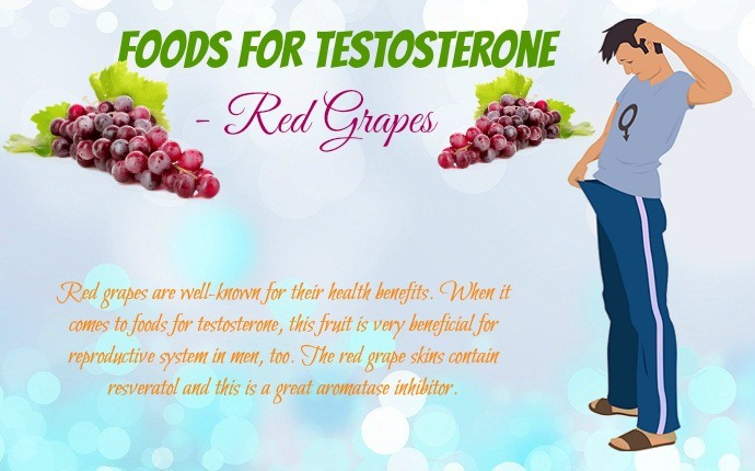 foods for testosterone - red grapes