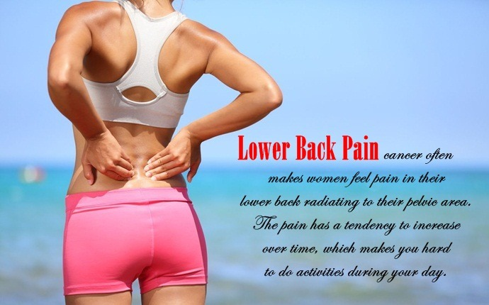 symptoms of ovarian cancer - lower back pain