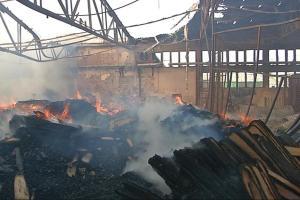 Izgorjela hala i brodski podovi u vinkovačkoj Spačvi, šteta 10 milijuna kuna!