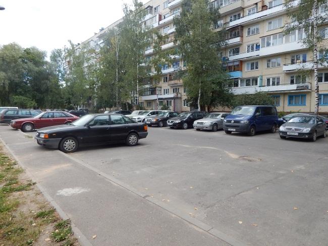 Специальная площадка для машин.