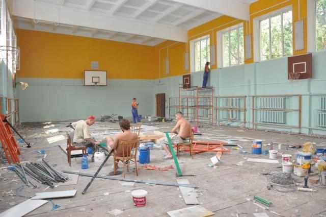 ремонт класса, ремонт физкультурного зала, учителя