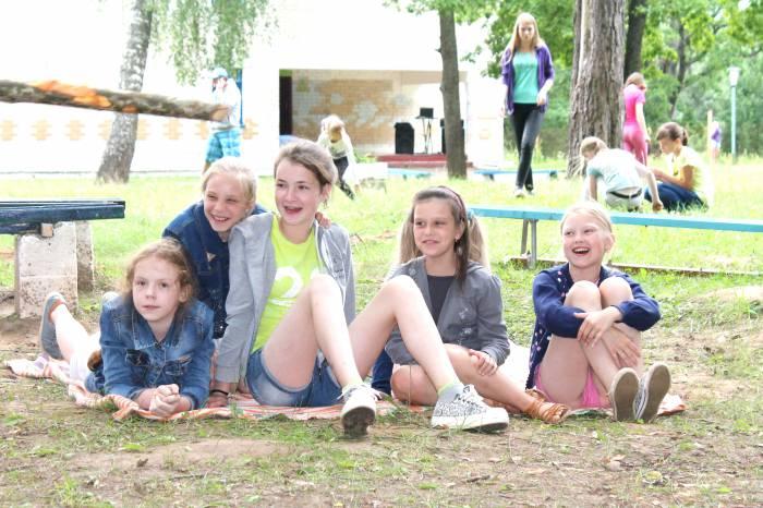 лагерь, дети, спорт