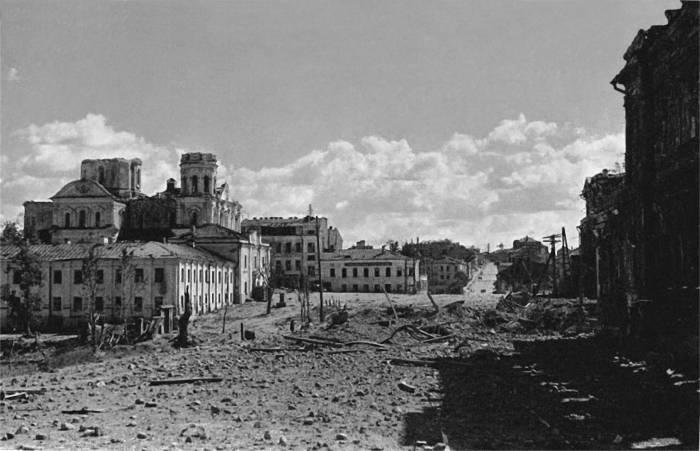 витебск, война, площадь Свободы