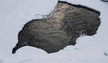 лед полынья