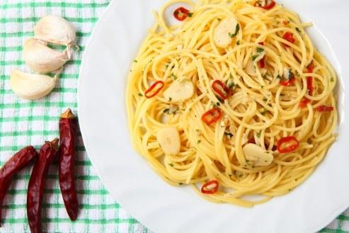 Спагетти со жгучим перцем