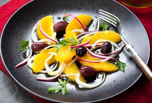 Сицилийский салат из апельсинов