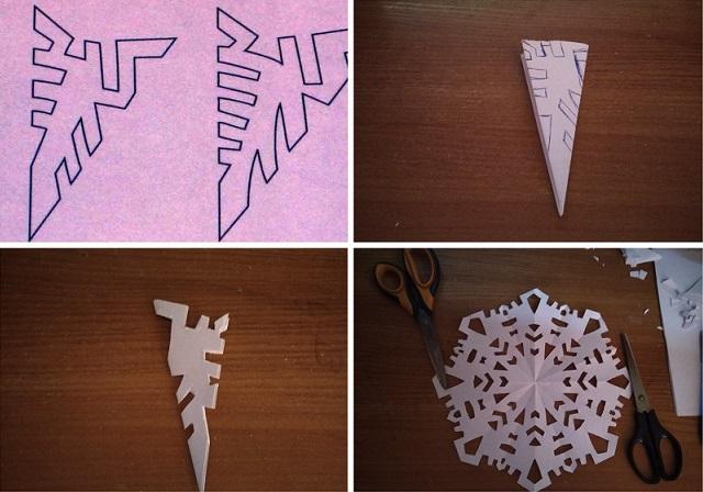 как делать снежинки из бумаги пошагово фото универсальная одежда
