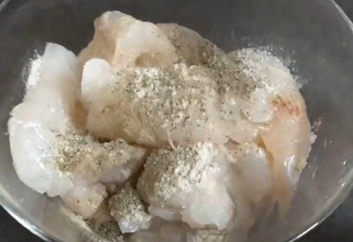 Филе трески соль перец