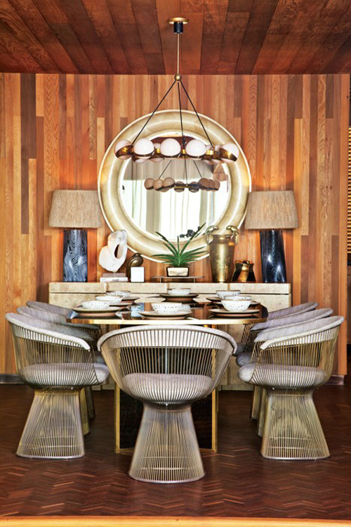 Sidney beach house dining room designed by Kelly Wearstler