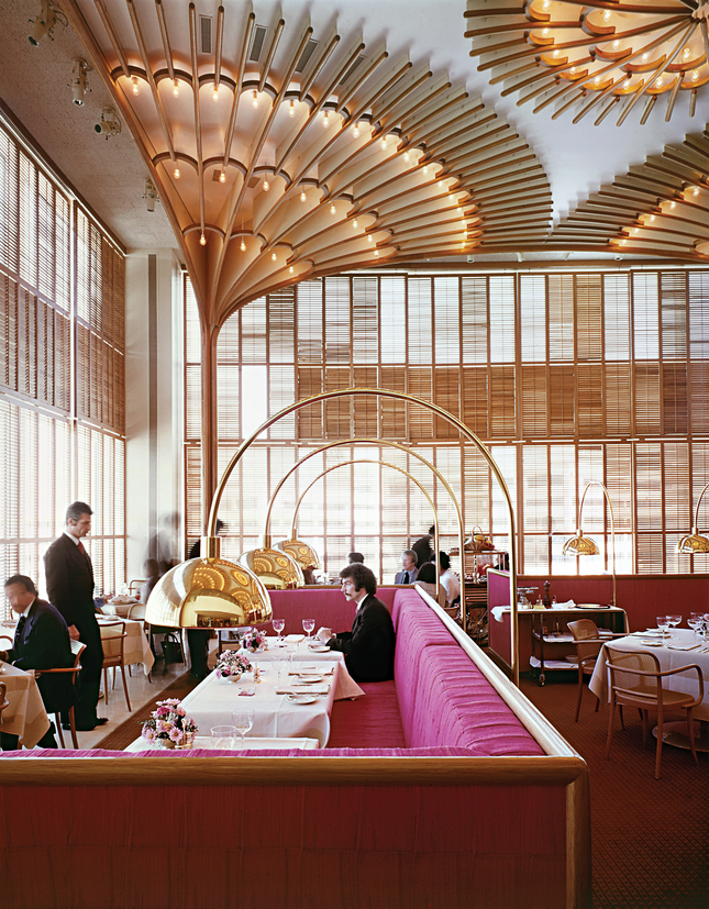 The American Restaurant in Kansas City, USA, designed by Platner for the Hall family, owners of the well known Hallmark postcards