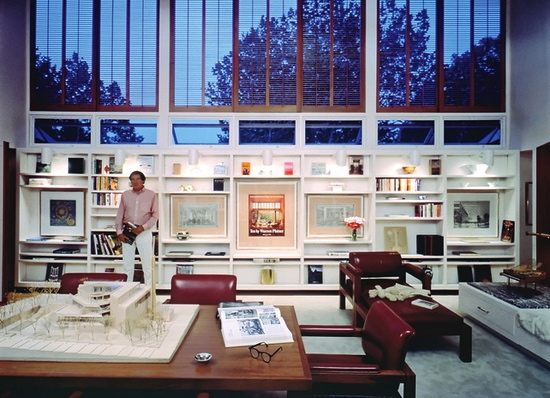 Warren Platner in  his office