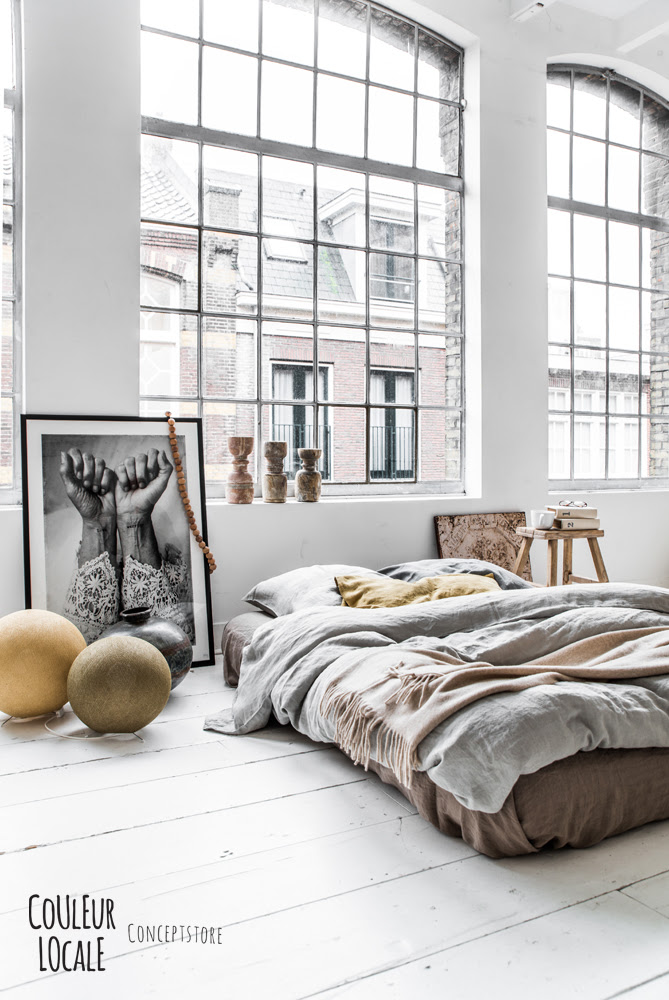 Loft bedroom in an old industrial building via Coco Lapine