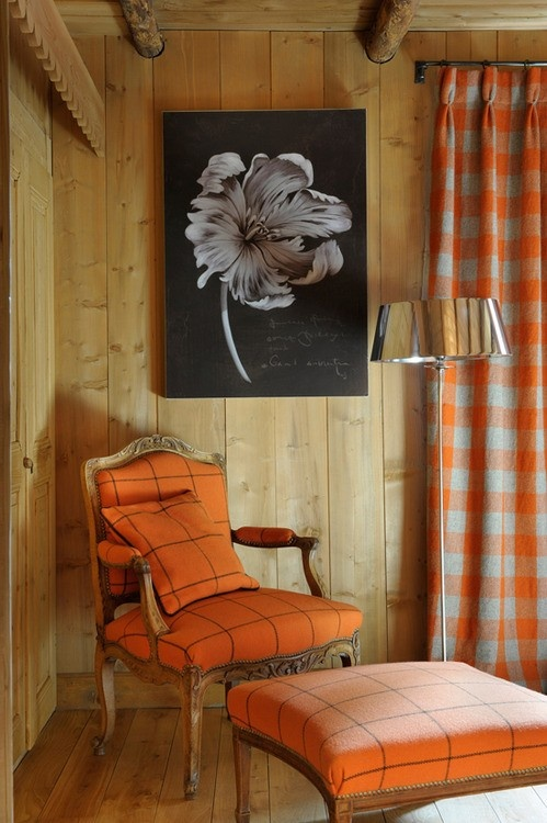 Chalet-style orange via Home Bunch