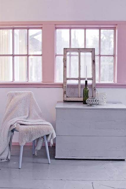 I have never seen this until now, pink windows! via InteriorsOriginals