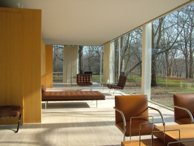 Inside Farnsworth House