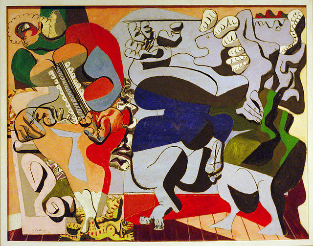 An untitled painting by Le Corbusier, it reminds me a lot of Picasso's work - via Pictify