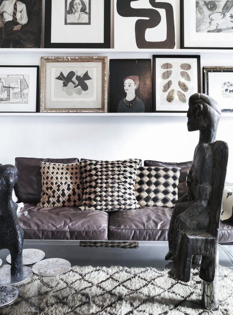 Black and white interiors: Detail from Marlene Birger's new book Move and Work