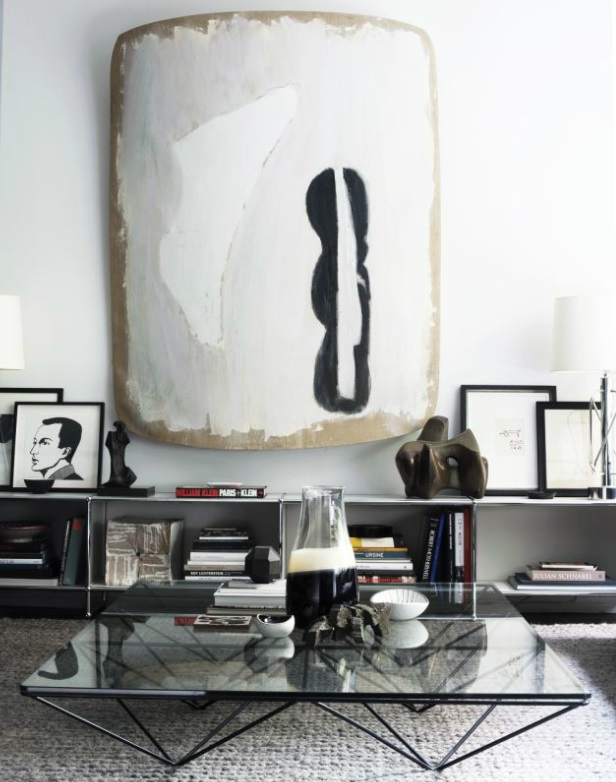 Contemporary black & white interiors - via David Prince Photography