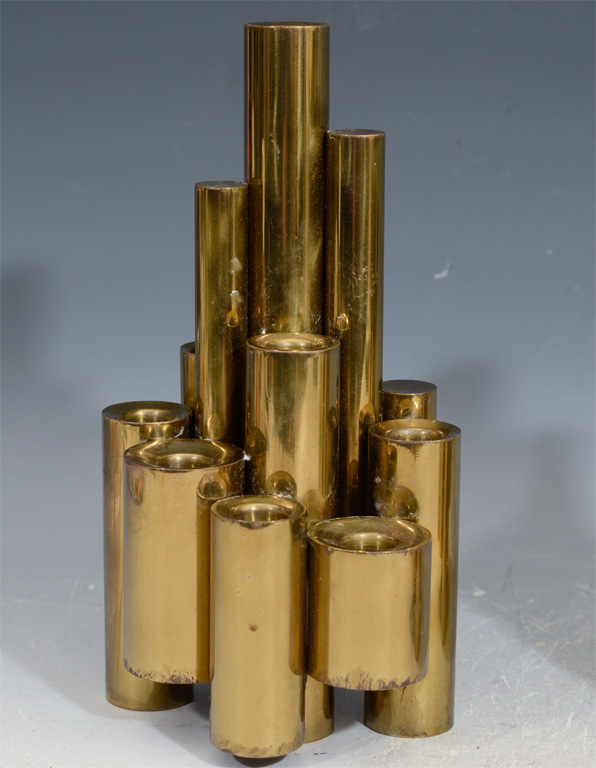 Brass candleholder by Gio Ponti - via 1stDibs
