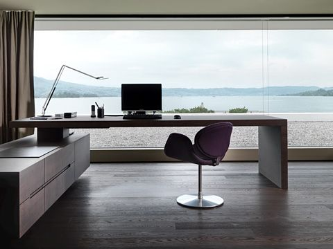 Home office with a view, I wouldn't mind working here - via Stylepark
