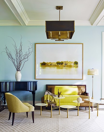 Interior designer Gideon Mendelsohn's livingroom via Mix and Chic