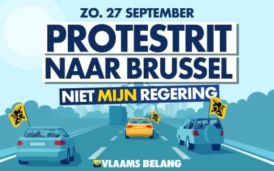 "Vlaams Belang plant massale ""protestrit naar Brussel"" tegen Vivaldi"