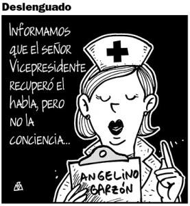 Angelino Garzón estuvo enfermo.