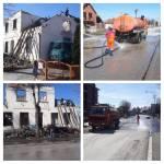 Почело чишћење и прање улица и реновирање изгореле полицијске станице у Владимирцима