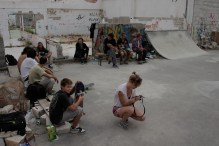 Session at the Badel factory