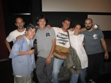 The crew before the screening of Coping mechanism