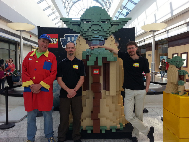 Oakridge LEGO Store One Year Annivesary Yoda Build