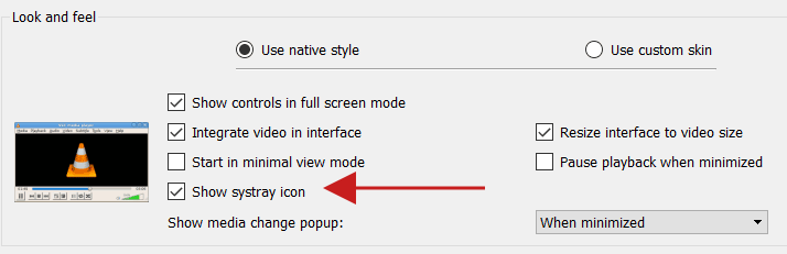 System Tray Related Settings