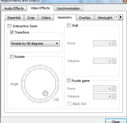 Video Effects in VLC