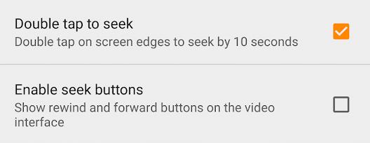 Seek Options