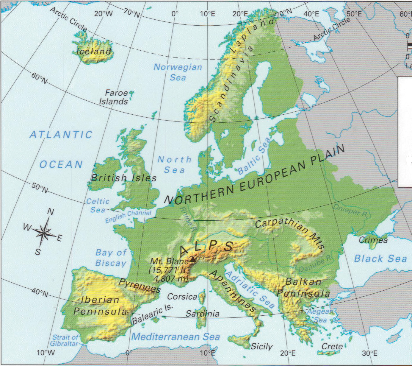 Geography Ks3 Year 9 Europe And The Eu Mapping Europe