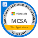 mcsa web applications certified 2017