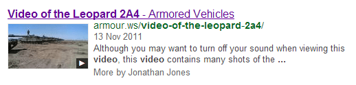 Video of the Leopard 2A4 Google Search The Simplicity of Video SEO