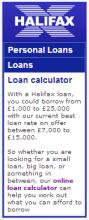 loans Halifax Bank   Partial Penalty by Google (Graphs, Charts & Widgets)