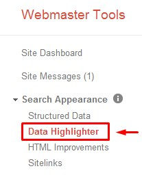 Structured Data Highlighter1 Using the Structured Data Highlighter in Webmaster Tools