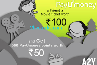 Get Free 100 rs Movie Voucher By Payumoney + Refer & Earn Unlimited (50rs per)