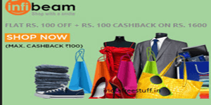 Infibeam 100 rs Off+100rs Cashback by Mobikwik Wallet Coupons
