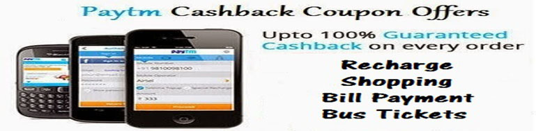 Paytm New Year Offer 2017 -100% Cashback Recharge Coupons & Promo Codes
