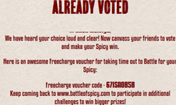 Unlimited Battleofspicy Coupons Freecharge 50 cashback on 10 for  All users
