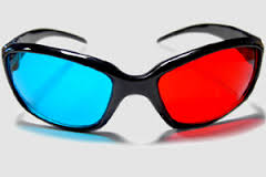 red cyan 3d video glasses