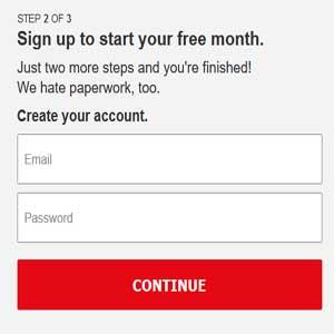 netflix registration form