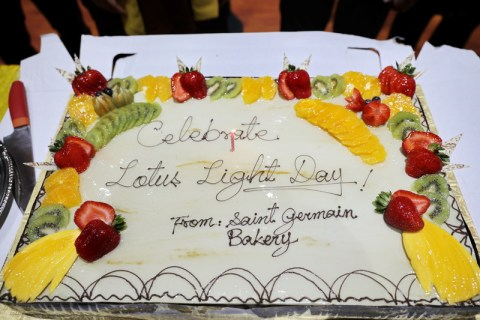 Celebrate Lotus Light Day Cake sponsored by St. Germain