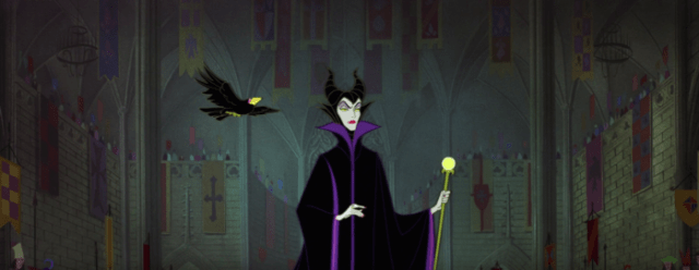 Sleeping Beauty - Maleficent - crow comes