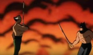 ras al ghul vs batman animated series