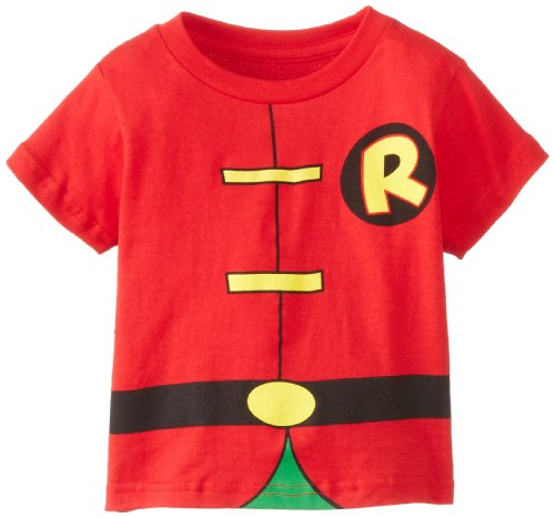 DC Comics Toddler costume Robin Caped T-Shirt, Red, 3T