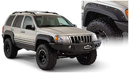 Bushwacker 10071-07 Black Front Cut-Out Fender Flare for Jeep Grand Cherokee WJ - Pair